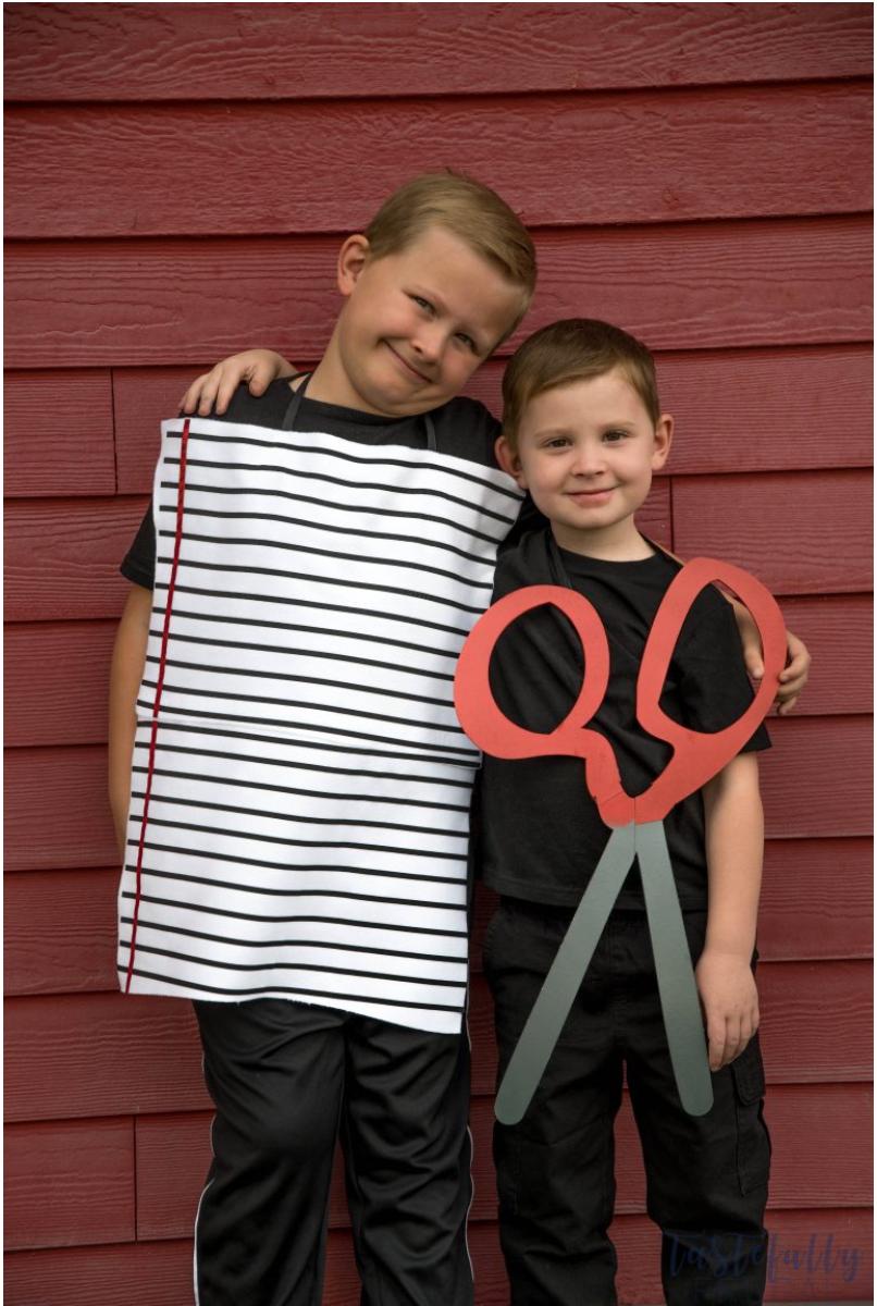 paper and scissor costume