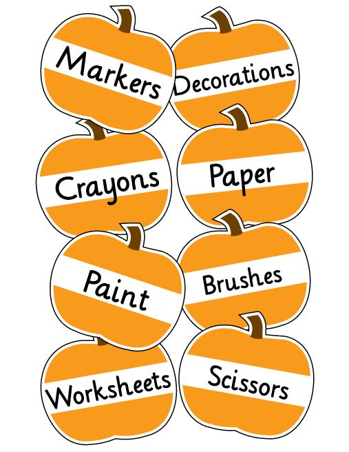 Printable Pumpkin Labels