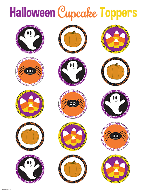 Halloween Cup Cake Toppers