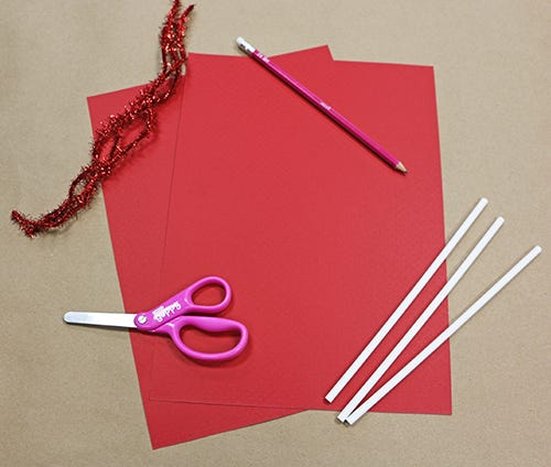 red arts & crafts supplies