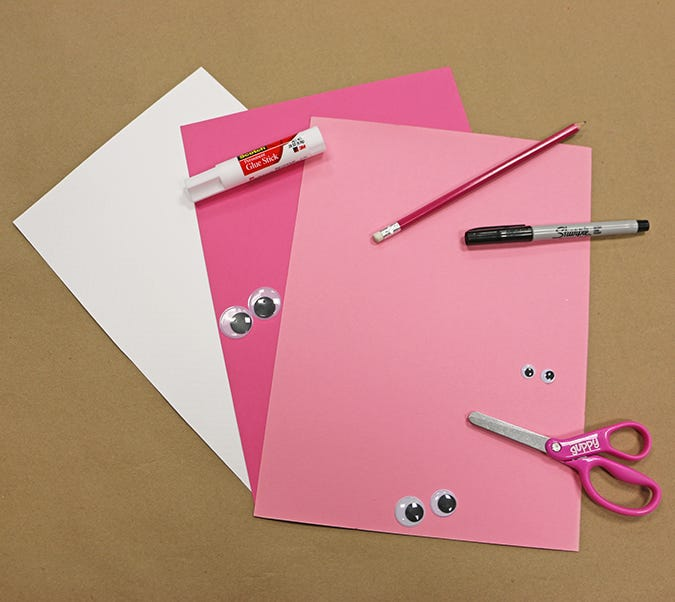 pink paper craft