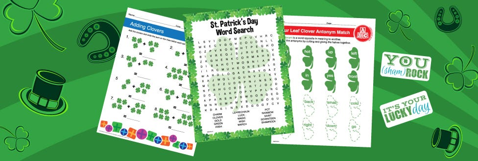 9 Free St. Patrick's Day Printables