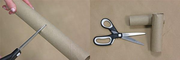 scissors cutting tube