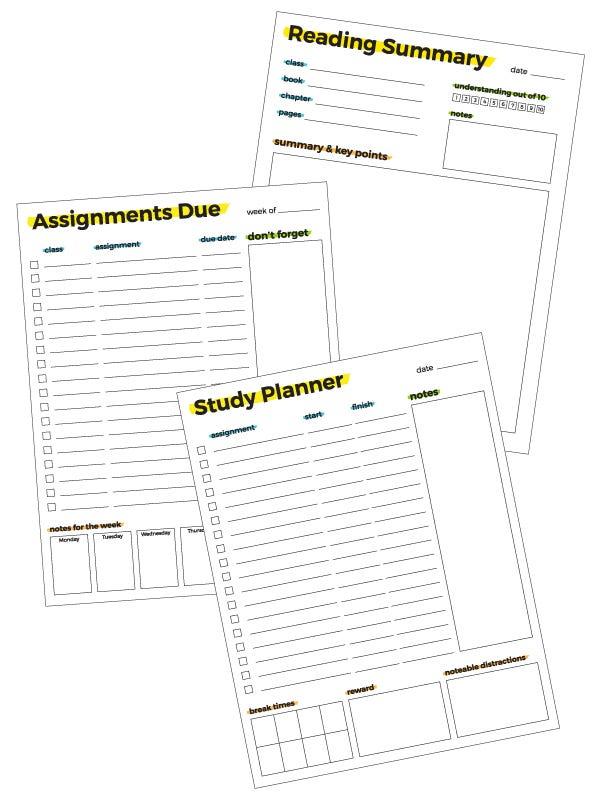 homework helper worksheet