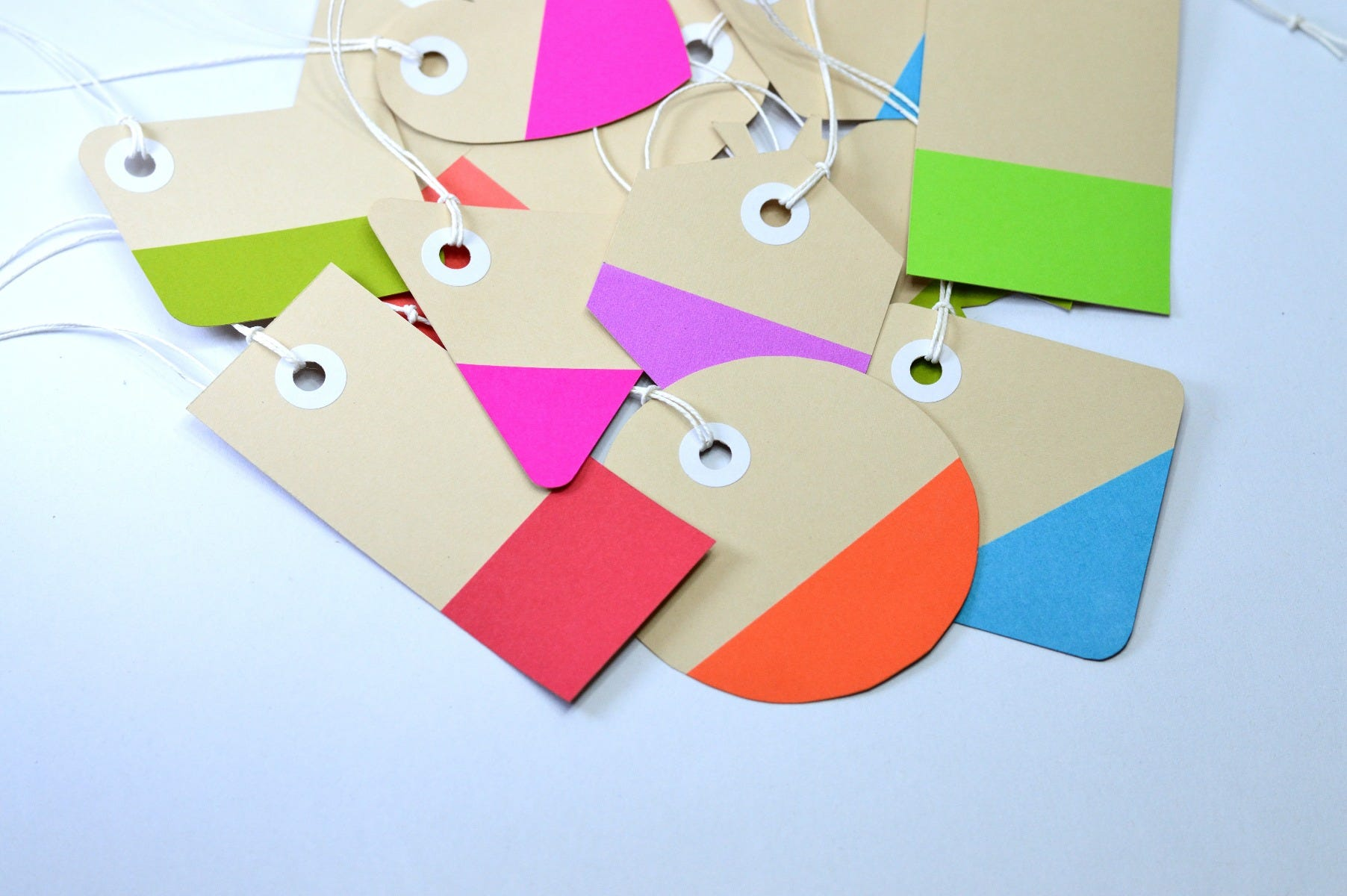 colorful personal label tags