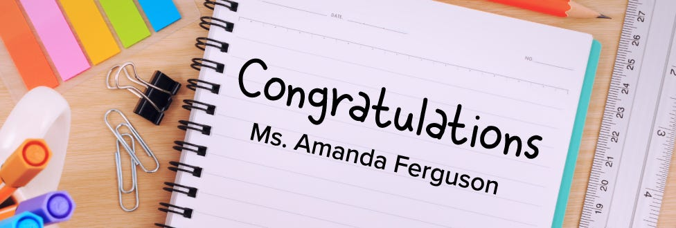 2018 Bostitch Classroom Grant Winner: Amanda Ferguson
