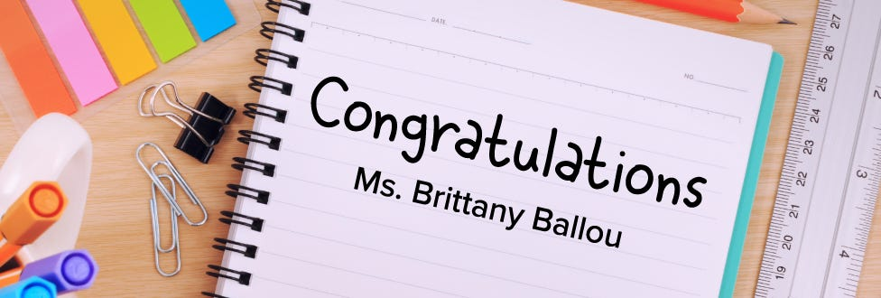 2018 Bostitch Classroom Grant Winner: Brittany Ballou