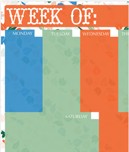 Printable Fall Weekly Calendar