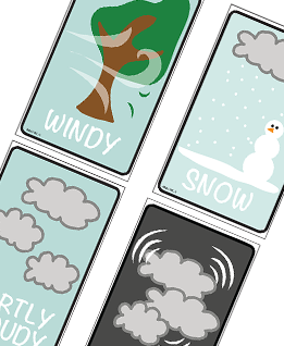 Weather Flashcards Printable