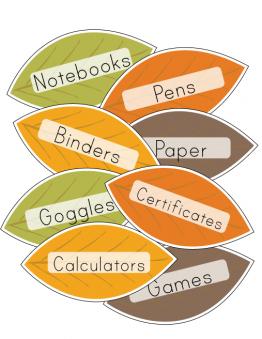Printable Fall Classroom Labels