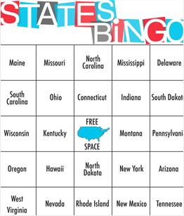 Printable United States Bingo Cards