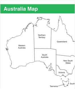 Printable Map of Australia