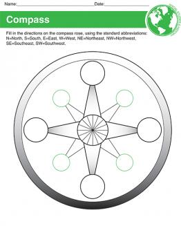 Printable Compass Worksheet