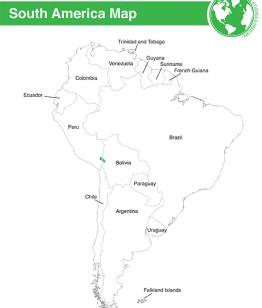 Printable South America Map