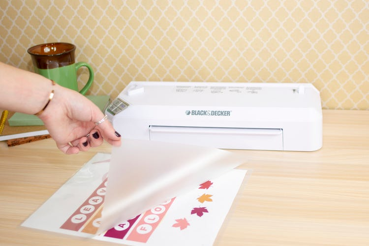 place paper between lamination paper