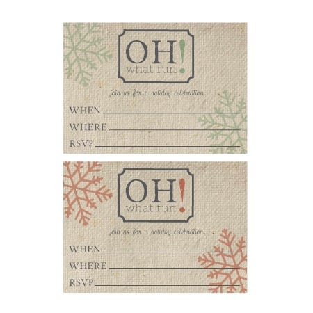 Invitations for Holiday Party-In-A-Box