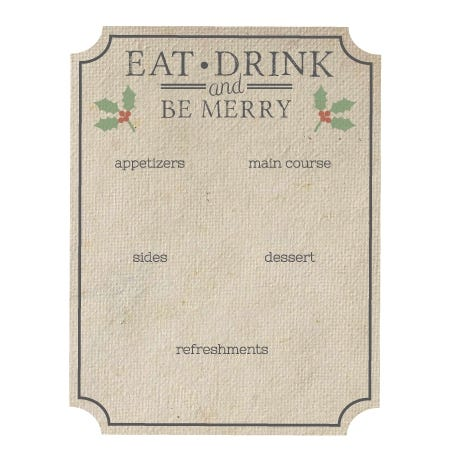 Menus for Holiday Party-In-A-Box