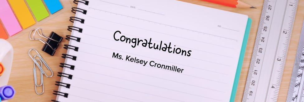 2019 Bostitch Classroom Grant Winner: Kelsey Cronmiller