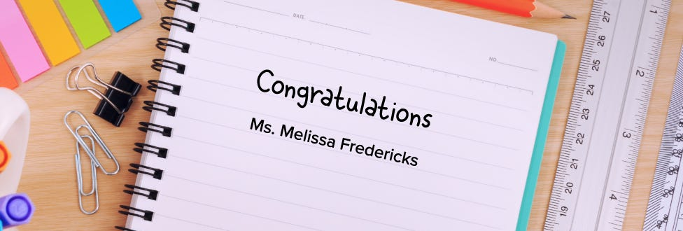 2019 Bostitch Classroom Grant Winner: Melissa Fredericks