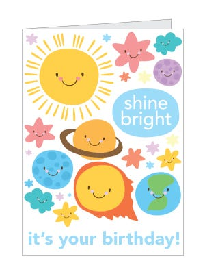 solar system birthday card
