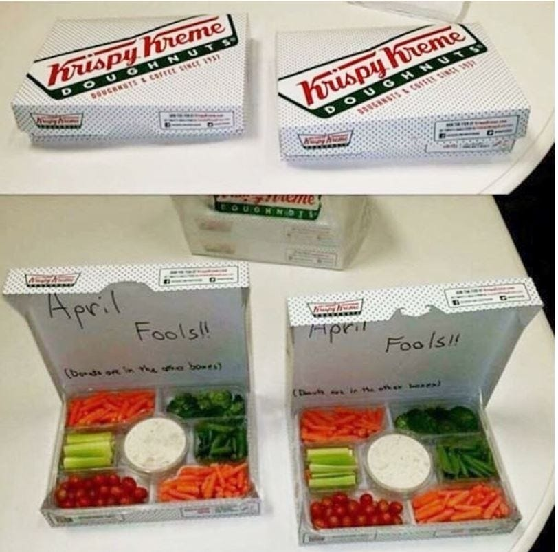 vegetables in place of donut