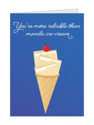 manila ice cream card