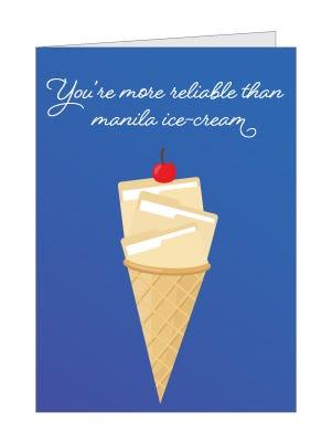 manila ice cream card