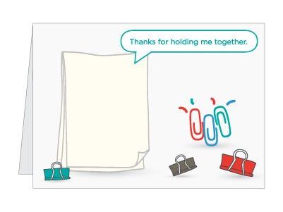 Paperclip pun card