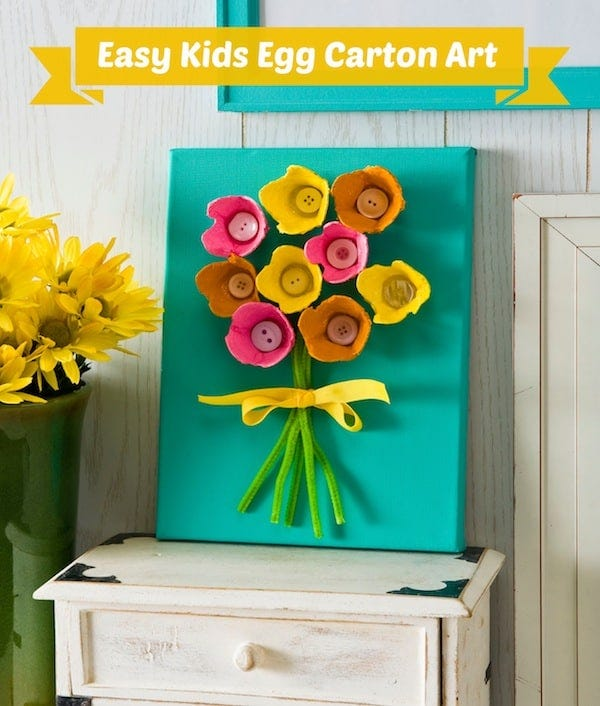 Egg Carton Flower Art