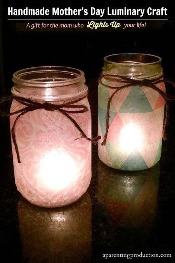 Candle Jar Luminary Craft