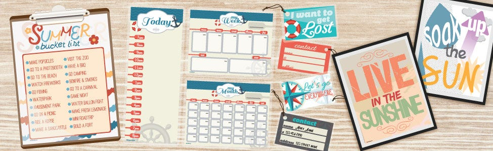8 Free Summer Printables & Activities