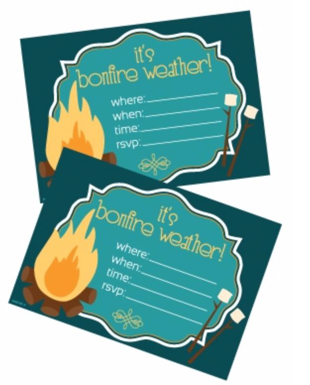bonfire invitations