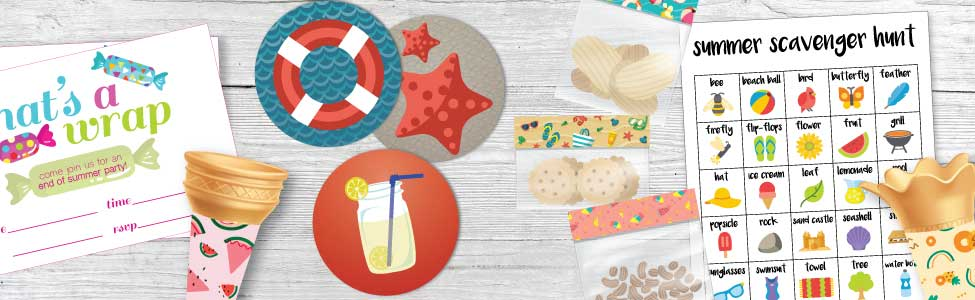 Free End-of-Summer Party Printables
