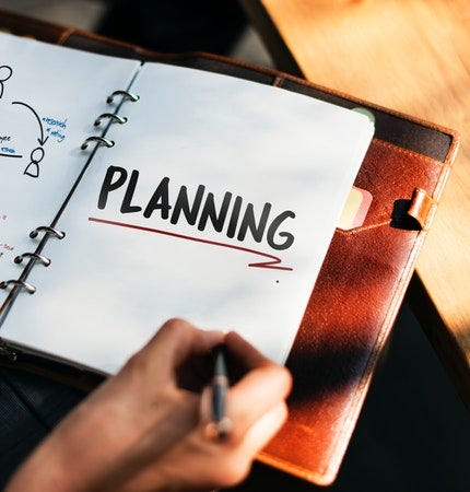 planner that says planning