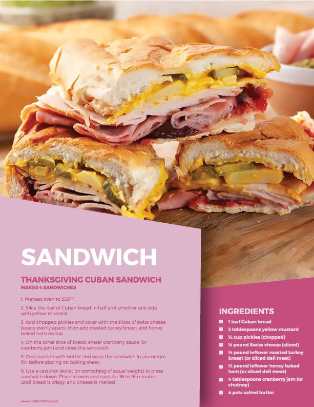 thanksgiving cuban sandwich