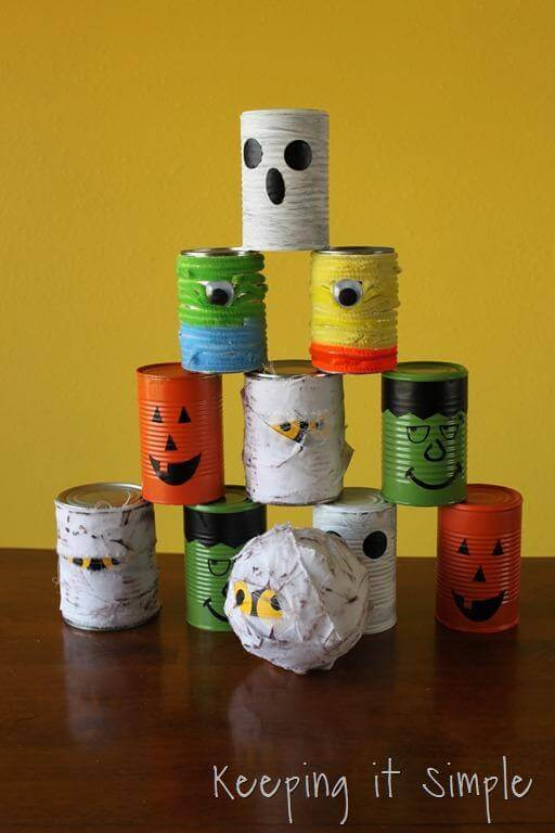 Halloween themed cans