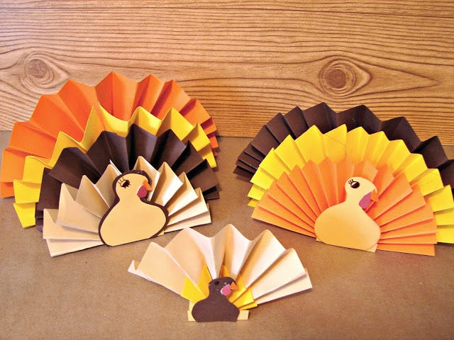 completed turkey fans