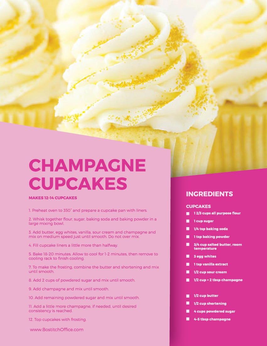 champagne cupcake recipe