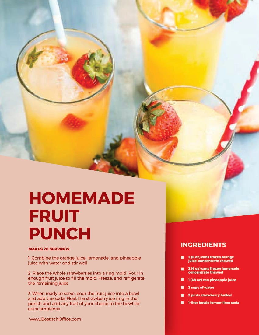 homemade fruit punch