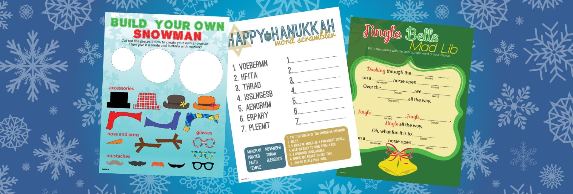 15 Free Winter Holiday Printables