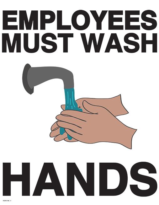 employee must wash hands