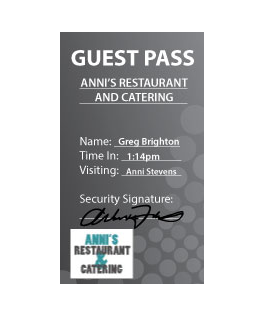 black and white guest pass