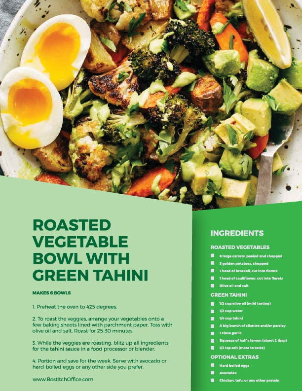 roasted veggie bowl recipe
