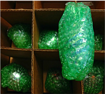 bubble wrapped items