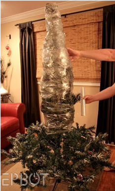 wrapped tree