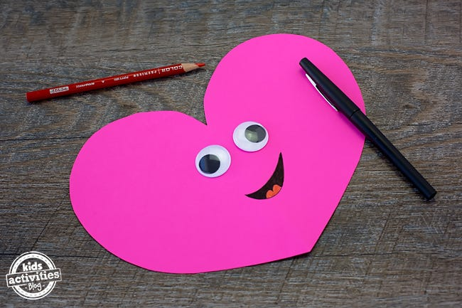 heart with face