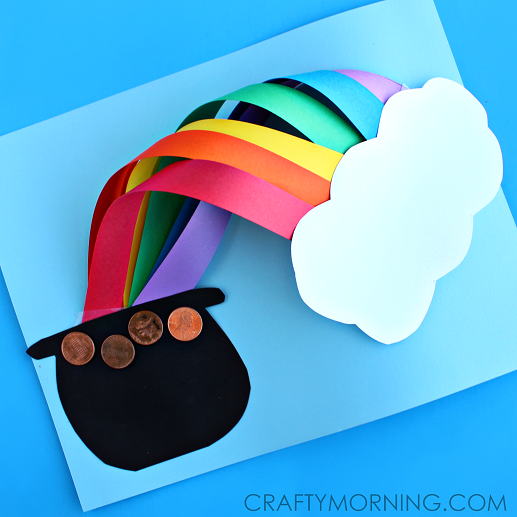 completed rainbow craft