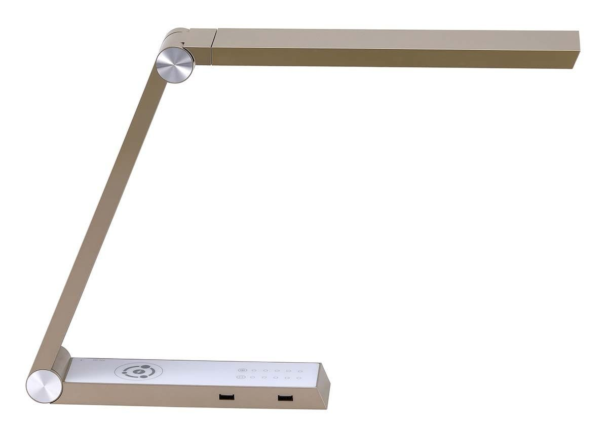 Gold desk lamp with wireless charger