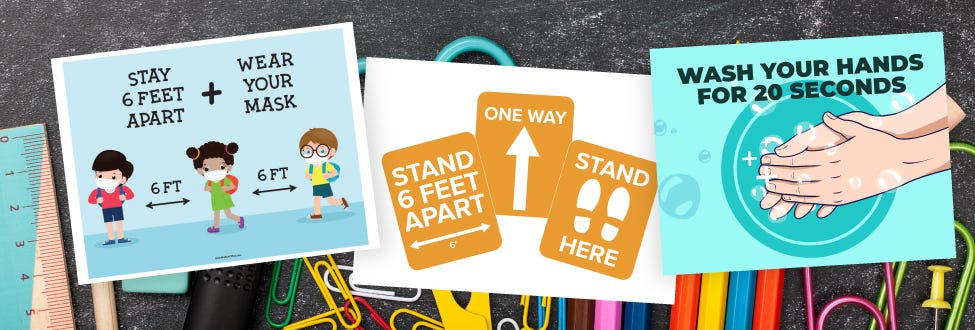 covid-19 printables banner