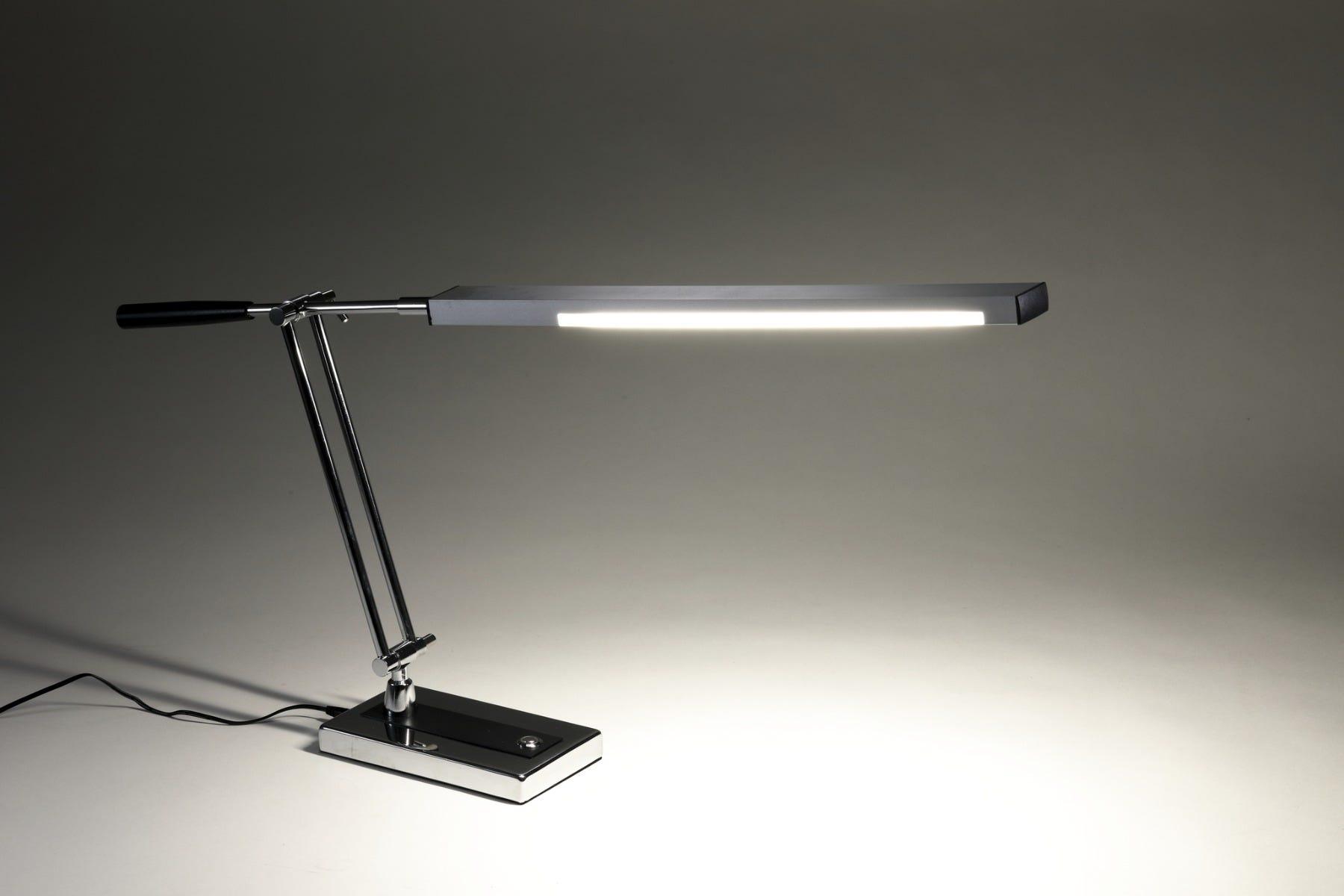 adjustable arm LED desk lamp